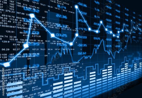 Fotografie, Tablou Stock market chart  .