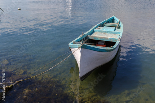 Stampa su Tela Old rowboat