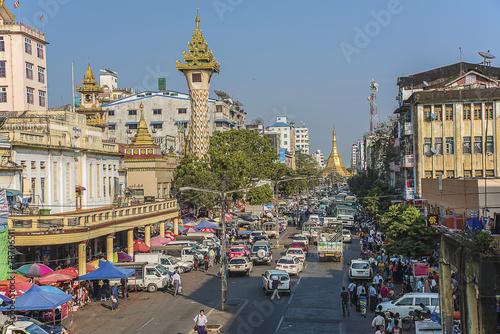 Yangon city Poster Mural XXL