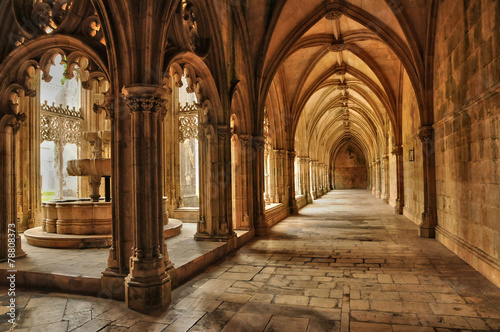 Photo historical monastery of Batalha in Portugal