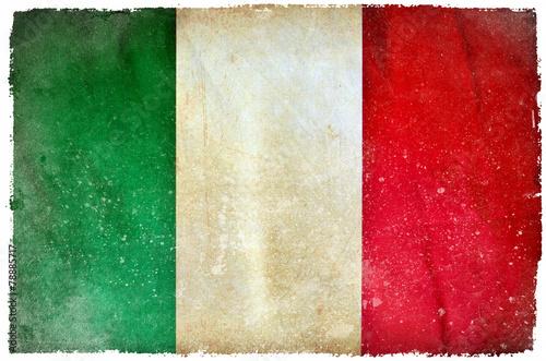 Italy grunge flag #78885717