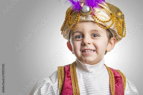 Photo Sultan child smilling.
