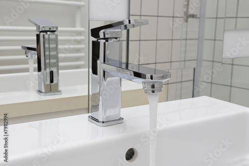 robinet de salle de bain Fototapet
