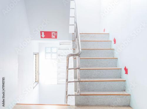 Stampa su Tela stairwell fire escape