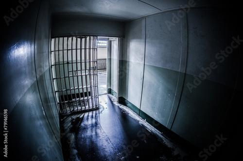 Inside of an abandoned penitentiary Fototapeta