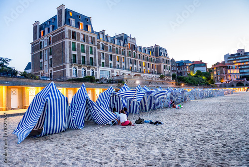 Fotografía Sand and architecture of Dinard - Brittany, France