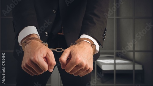 Cuadros en Lienzo Businessman arrested