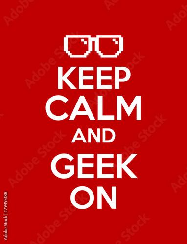 Canvas Print keep calm geek red