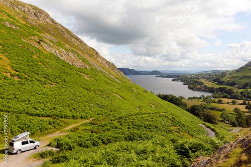 Fotografia Pop top campervan Ullswater Lake District UK
