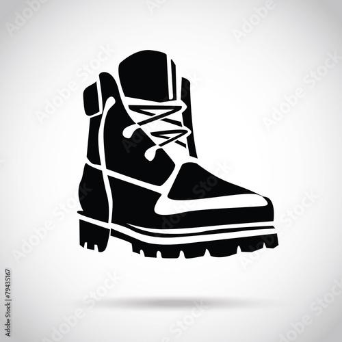 Canvastavla Black boot icon
