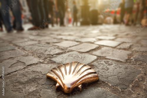 Fotografia Santiago shell, St James shell in Brussels