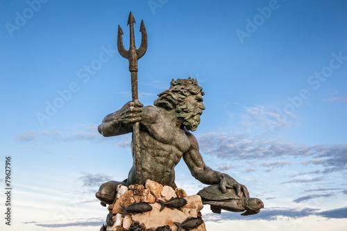 Obraz na płótnie King Neptune Statue at Virginia Beach
