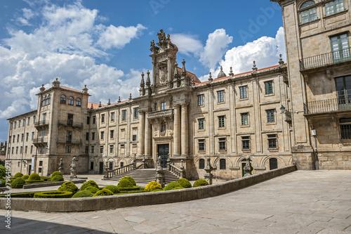 Fotografia Santiago de Compostela , Spain. Monastery of St. Martin Pinario