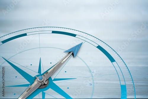 Composite image of compass Fotobehang