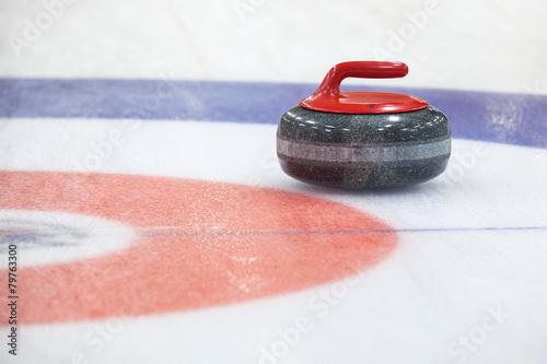 Leinwand Poster Curling Rockson Eis