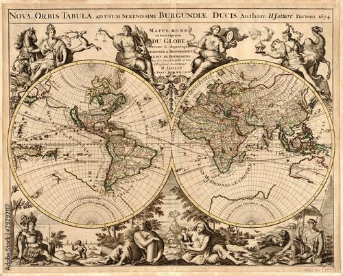 Valokuva Vintage World map