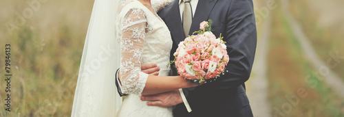 Fotografia, Obraz Wedding picture of newlyweds.