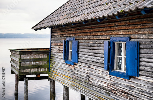 Canvas Print old boathouse