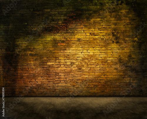 mysterious brick wall Fototapeta