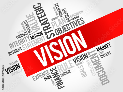 Vision word cloud, business concept #79909526
