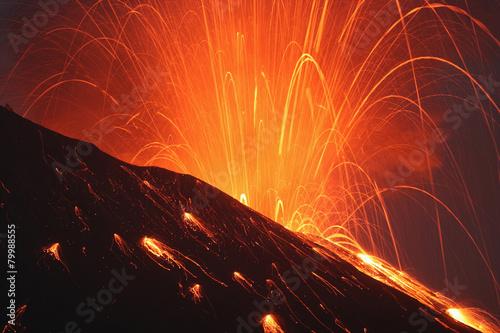 Japan, Kagoshima, Sakurajima volcano erupting #79988555
