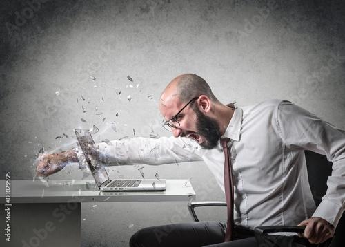 Murais de parede explosion of anger