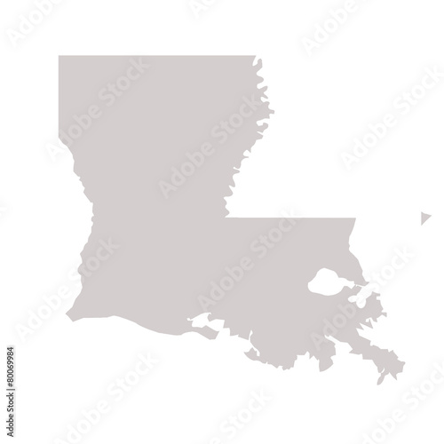 Fototapeta Louisiana State map