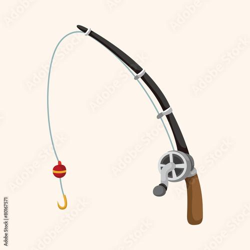 Fishing rods theme elements Fototapete
