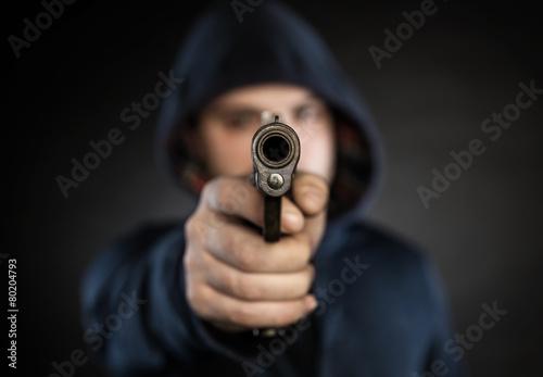 Fotografia killer with gun