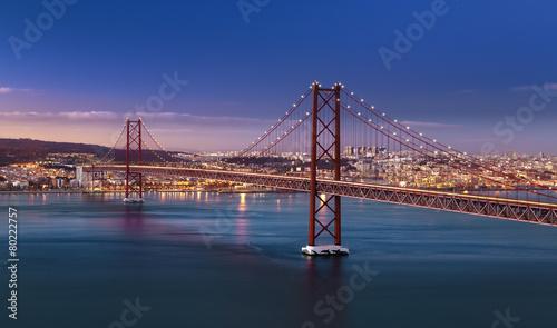 Pont 25 avril Lisbonne Portugal