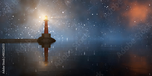 Photo lighthouse on the coast