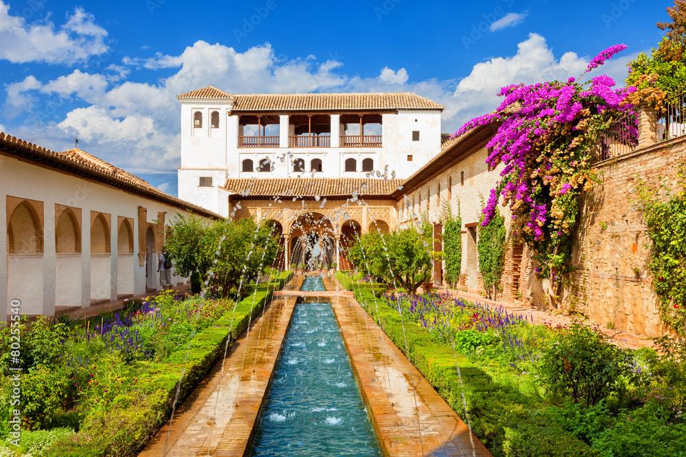 Alhambra de Granada. Generalife's fountain and gardens <span>plik: #80255540 | autor: Jose Ignacio Soto</span>