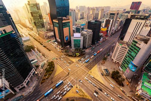 Fototapeta premium Gangnam Traffic