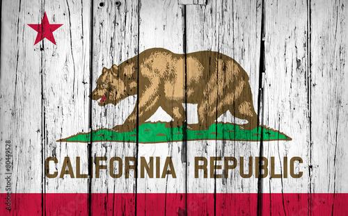 California State Flag Grunge Background #80449528