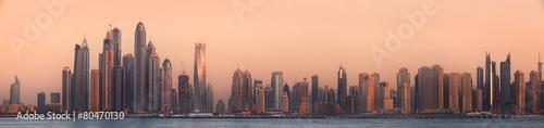 The beauty panorama of Dubai marina. UAE #80470130