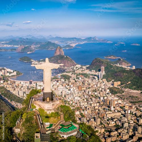 Rio de Janeiro, Brazil : Aerial view of the city