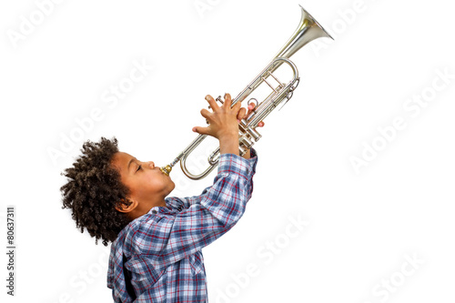 Trumpeter playing the blues.