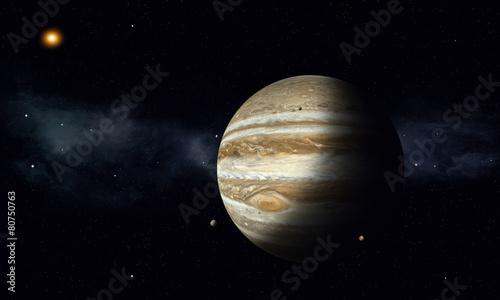 Fotografie, Obraz Jupiter with Moons