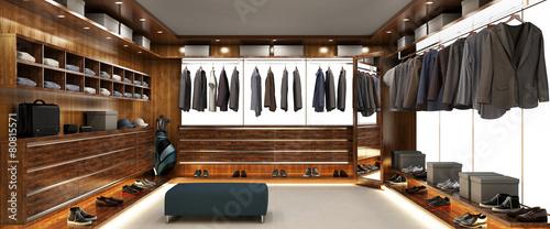 Fotografia Big modern wardrobe for men
