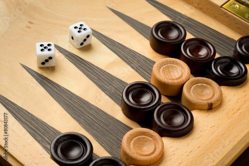 Tela Backgammon set with dice