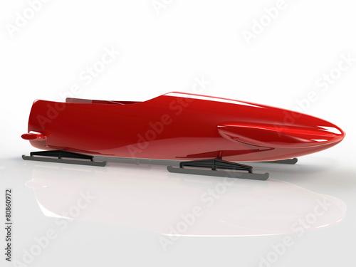 Canvas Print Red bob-sleigh
