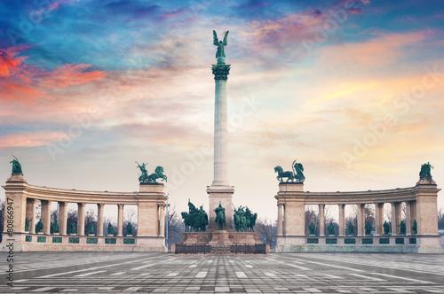 Fototapeta Heroes Square Budapest Hungary