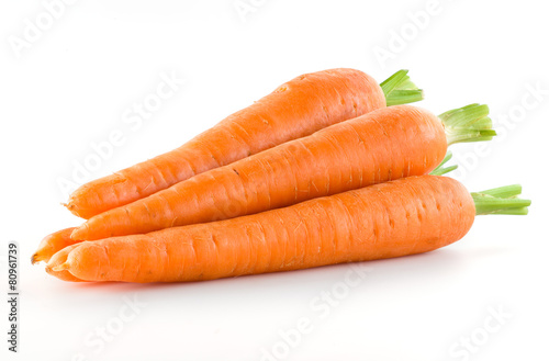 Photo Carrot. Heap of vegetable isolated on white