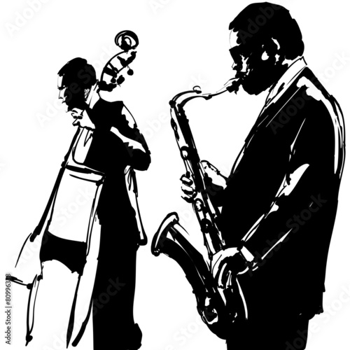 Jazz  with saxophone and double-bass