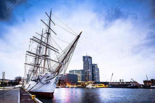 polish ship docked in Gdynia #81111962