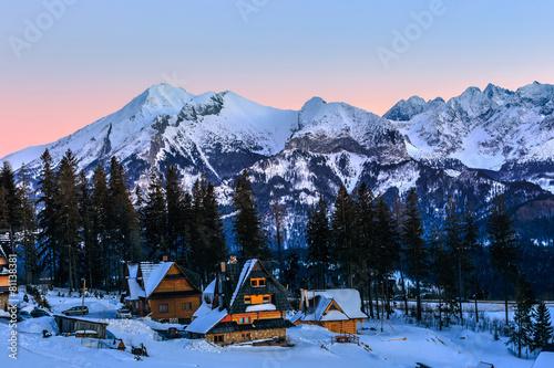 Winter landscape of High Tatra Mountains, Poland