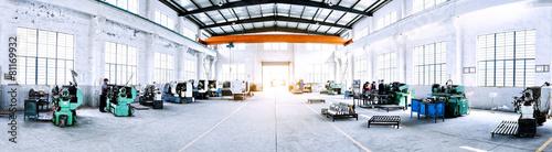 Valokuva factory workshop interior and machines