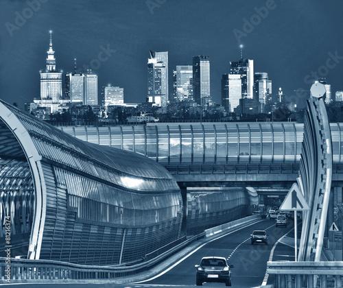 Panorama of Warsaw #81216374