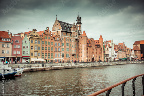 views of the waterfront in Gdansk #81228197