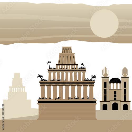 Carta da parati 7 Wonder of the world Ancient Babylon